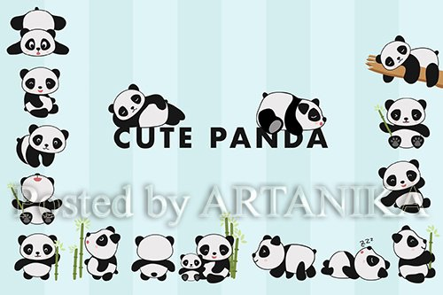 Cute Panda Hand Drawn