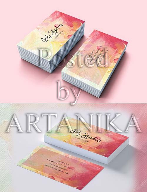 CreativeMarket - Art Brush effects beautiful card 2290265
