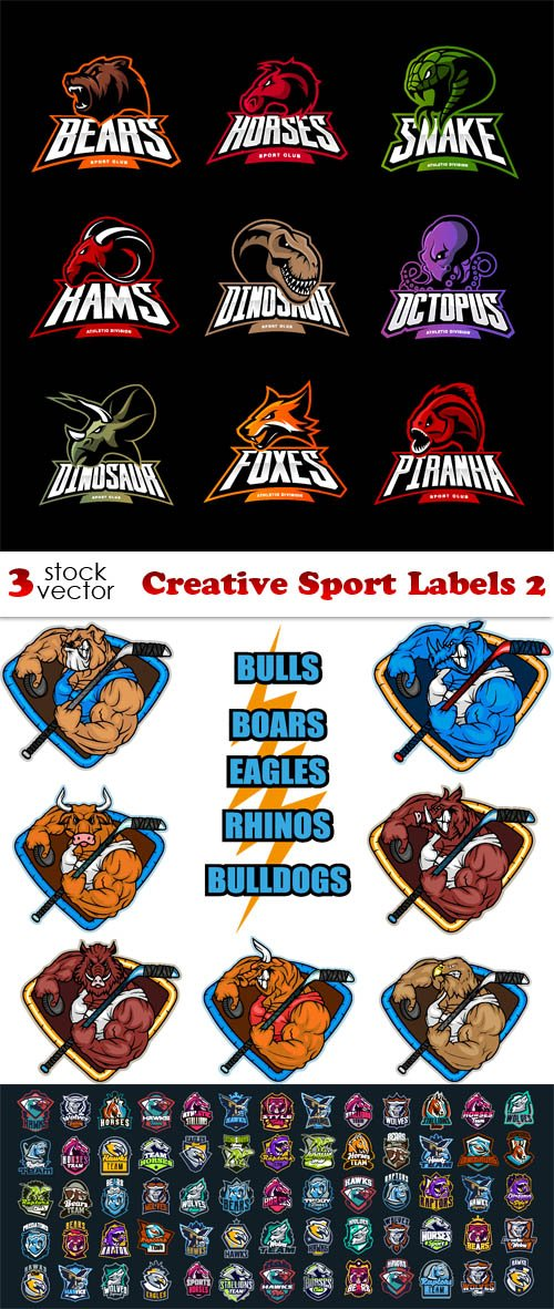 Vectors - Creative Sport Labels 2