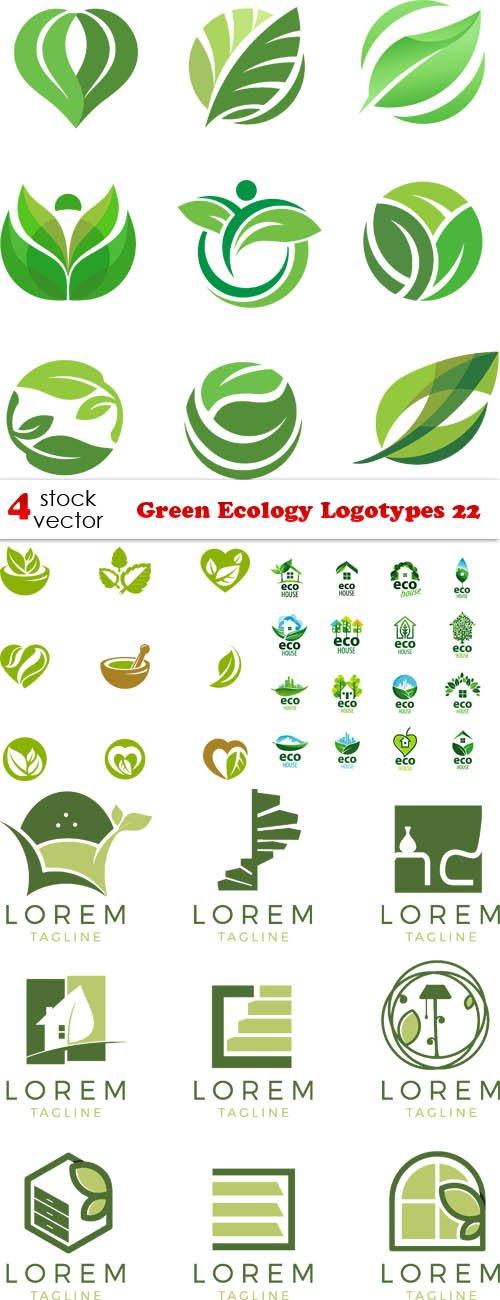 Vectors - Green Ecology Logotypes 22