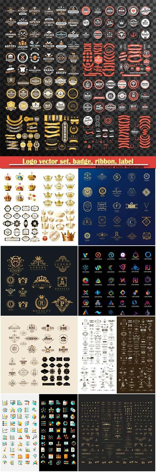 Logo vector set, badge, ribbon, label and  icon # 2