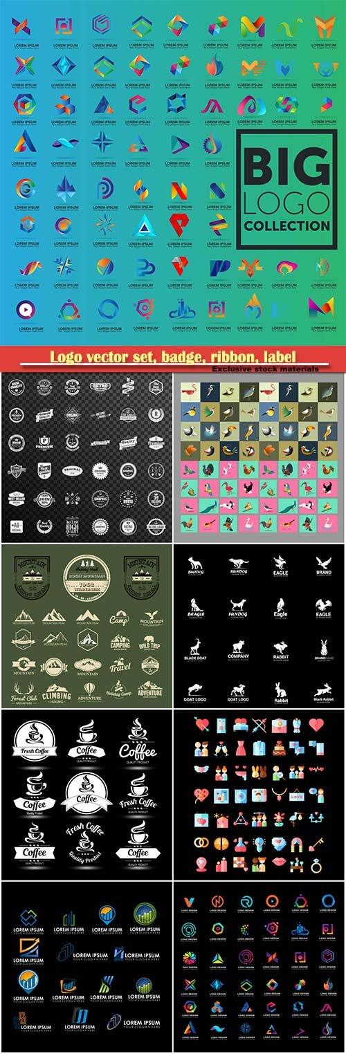 Logo vector set, badge, ribbon, label and  icon # 4