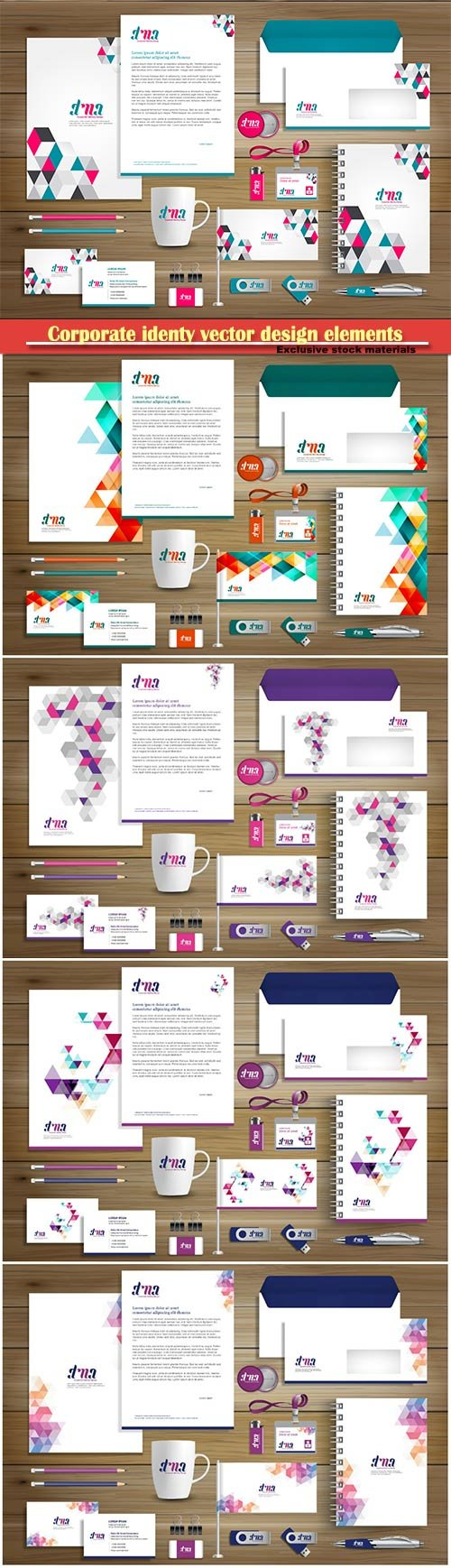 Corporate identy vector design elements illustration template