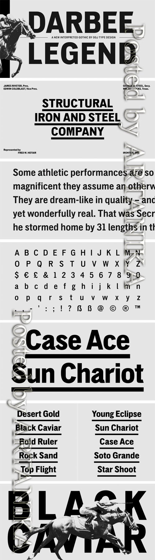 Darbee Legend Font Family