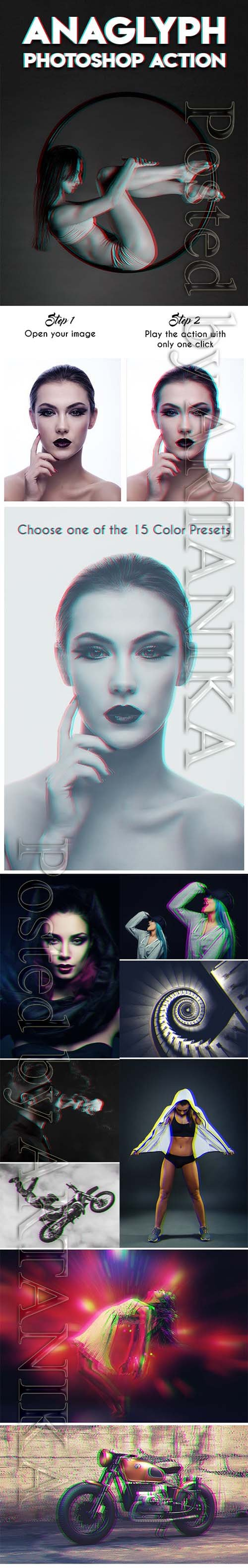 Anaglyph Photoshop Action 20035998