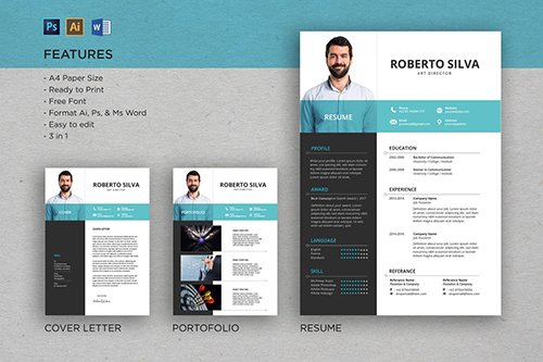 Professional CV And Resume Template Roberto