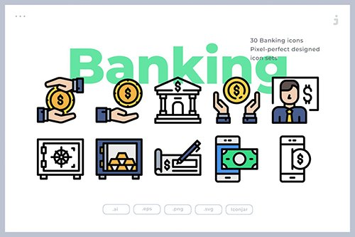 30 Bank and Finance Icons