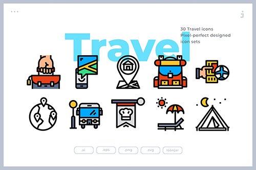 30 Travel Icons