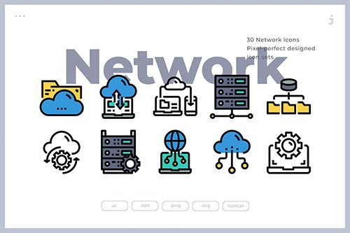 30 Network and Database Icons