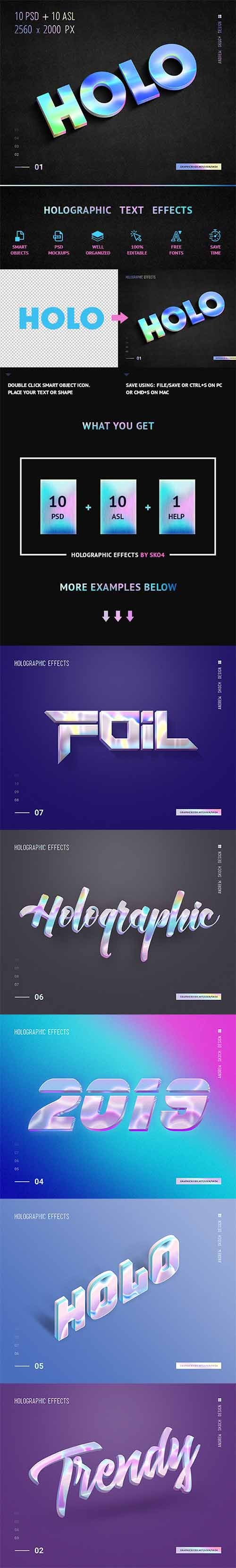 Holographic Text - 10 PSD 23178255