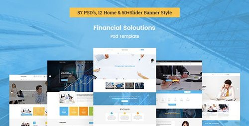 ThemeForest - Financial Solutions - Financial & Business PSD Template (Update: 19 November 16) - 18149138