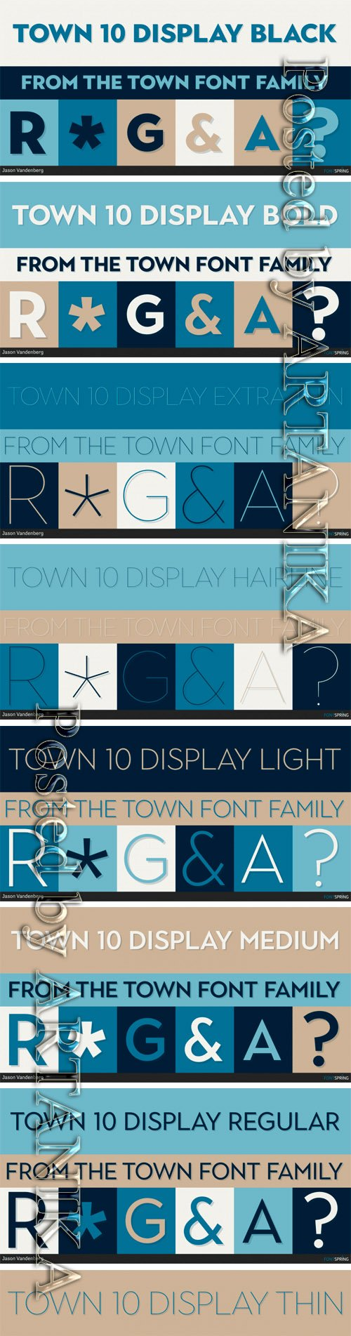 Town 10 Display Font Family