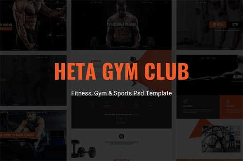 Heta - Fitness, Gym & Sports Psd Template