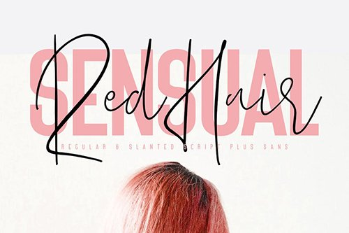 Red Hair Sensual Typeface