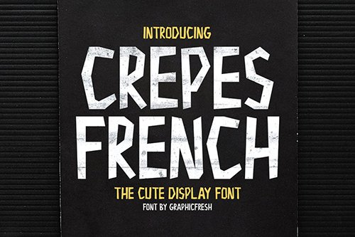 Crepes - The Cute Display Font
