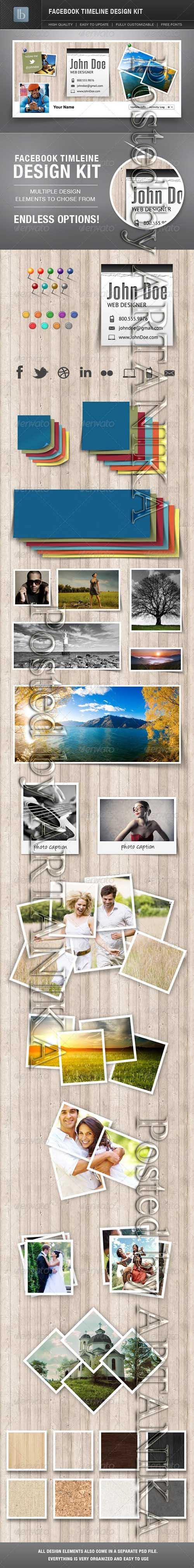 Facebook Timeline Cover Design Kit 2230170