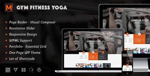 ThemeForest - Gym Fitness Yoga v1.8 - Maniva WordPress Theme - 12003454