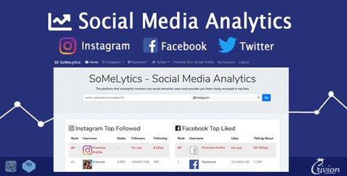 CodeCanyon - SoMeLytics v1.0 - Social Media Analytics Platform - 23223502