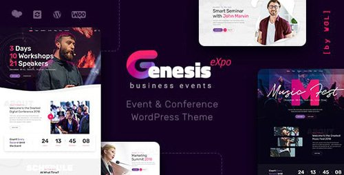 ThemeForest - GenesisExpo v1.0.14 - Business Events & Conference WordPress Theme - 22734275