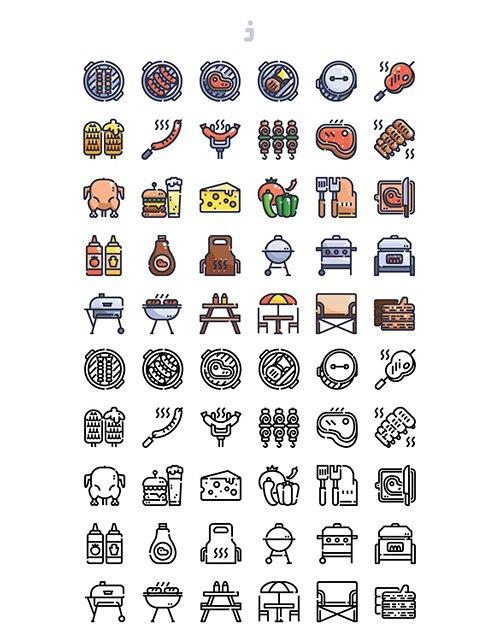 30 BBQ Icons