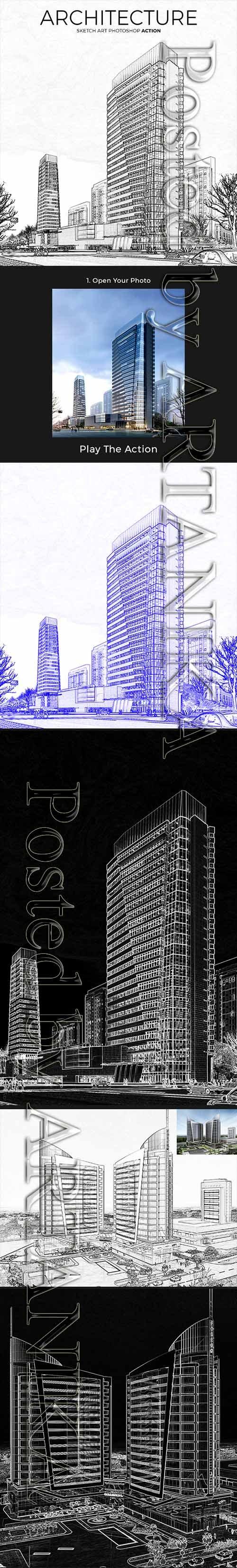GraphicRiver - Architecture Sketch Art Photoshop Action 21403946
