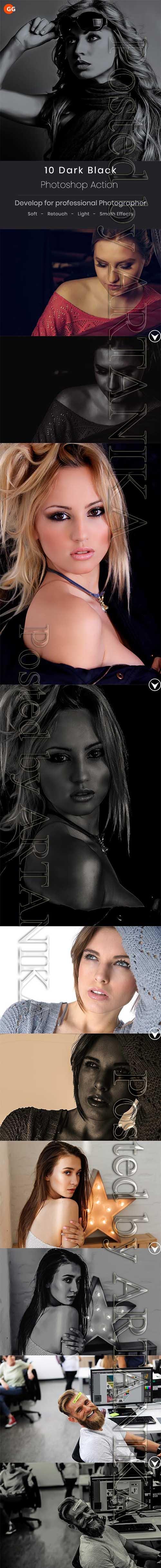 GraphicRiver - 10 Dark Black Photoshop Action 21400696