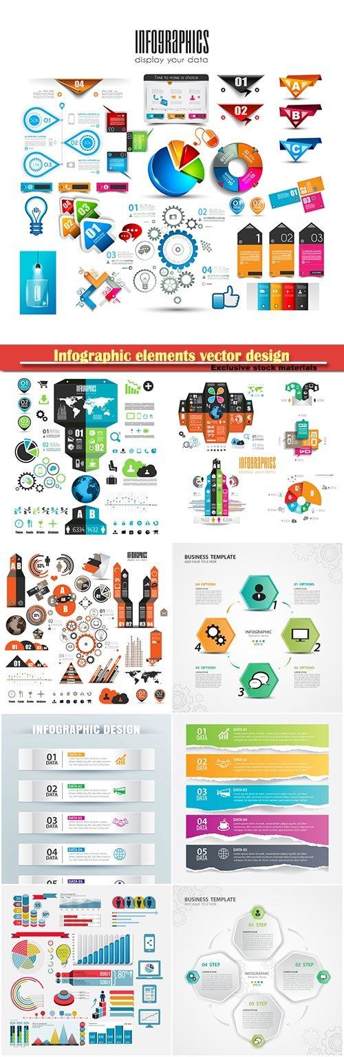 Infographic elements vector design illustration
