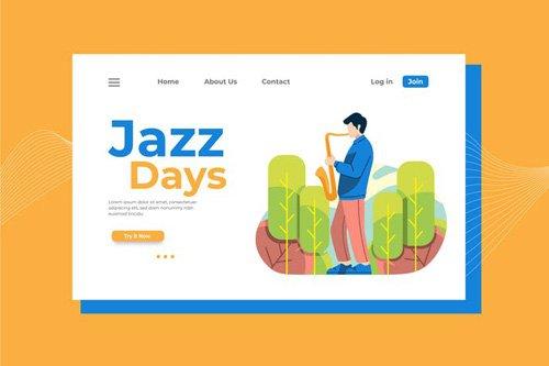 Jazz Days Landing Page Illustration