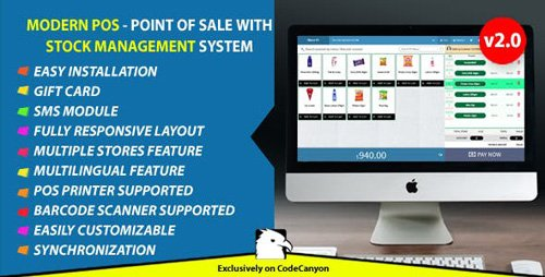 CodeCanyon - Modern POS v2.0 - Point of Sale with Stock Management System - 22702683 - NULLED