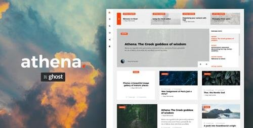 ThemeForest - Athena v1.1.4 - Modern Ghost Theme with Masonry Layout - 22751436