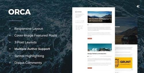 ThemeForest - Orca v4.1.0 - Responsive Ghost Theme - 7614135