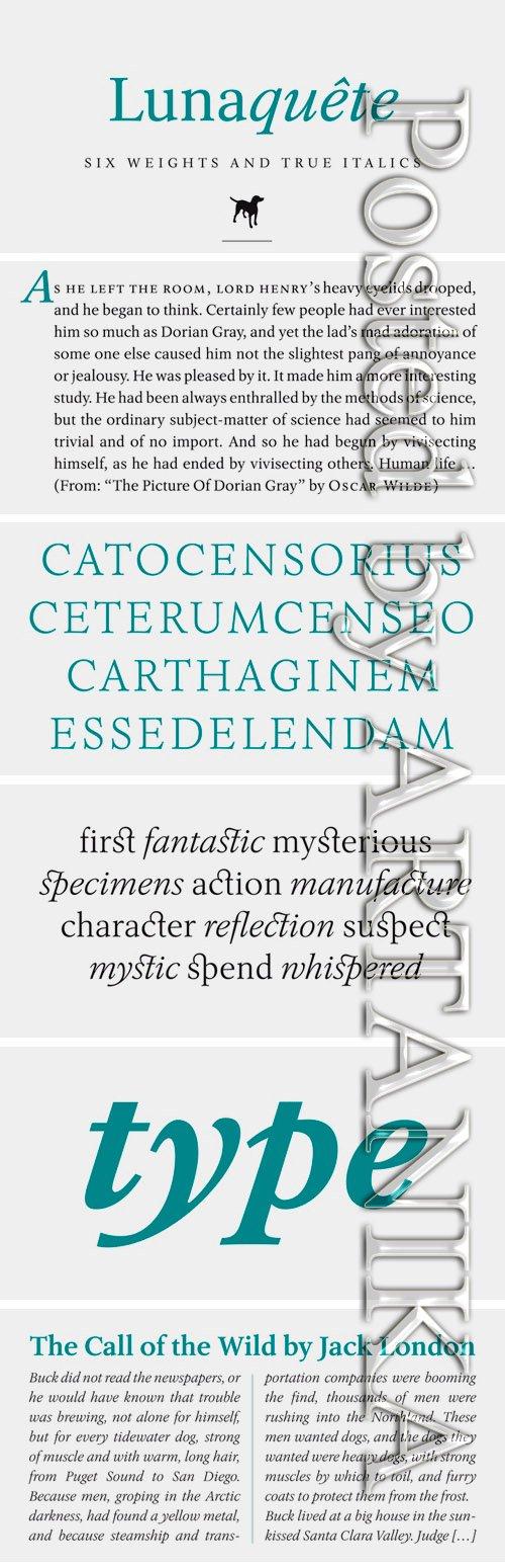 Lunaquete Font Family