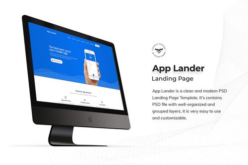 Mobile App Landing Page PSD Template