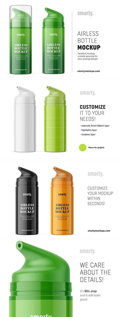 CreativeMarket - Glossy airless bottle mockup 3371140