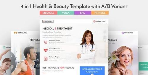 ThemeForest - Mediclick v1.0.1 - Medical Landing Page WordPress Theme - 20349677