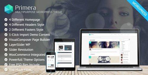 ThemeForest - Primera v1.1.0 - Corporate Multipurpose WordPress Theme - 18313766
