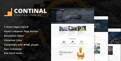 ThemeForest - Continal v1.4 - Construction & Business WordPress Theme - 16216195