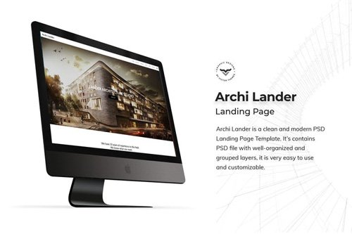 Architecture Landing Page PSD Template