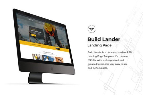 Construction Landing Page PSD Template
