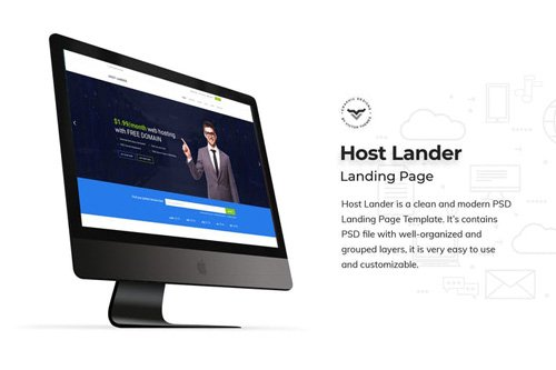 Hosting Landing Page PSD Template