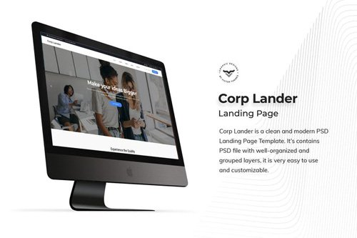Corporate Landing Page PSD Template