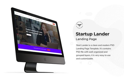 Startup Landing Page PSD Template