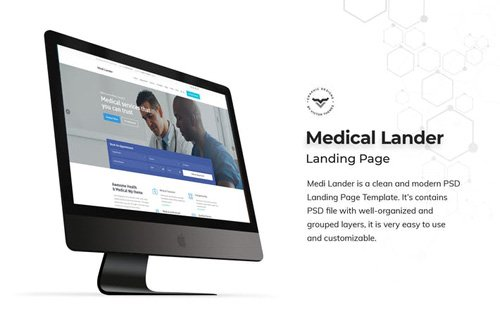 Medical Landing Page PSD Template