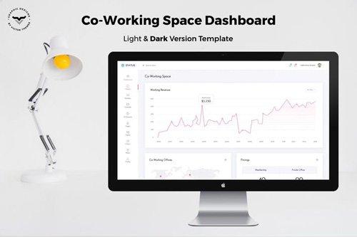 Co Working Admin Dashboard UI Kit