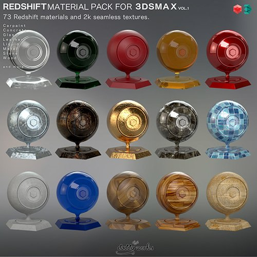 REDSHIFT MATERIAL PACK FOR 3DSMAX VOL1 3D model