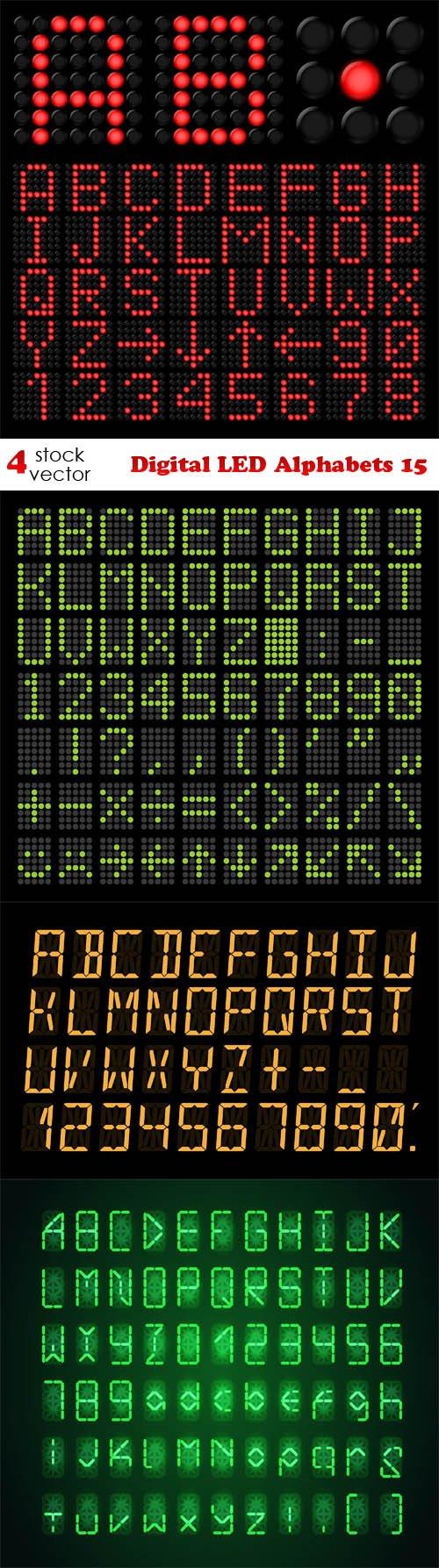 Vectors - Digital LED Alphabets 15