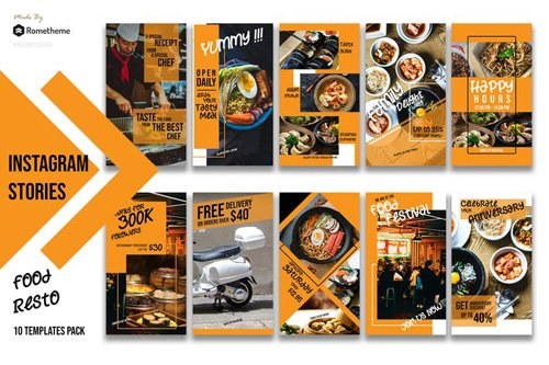 Food Restaurant Instagram Stories vol.01