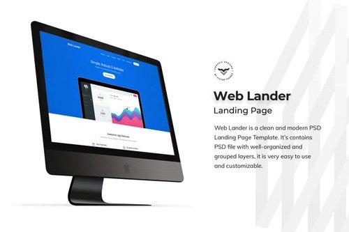 Web App Landing Page PSD Template