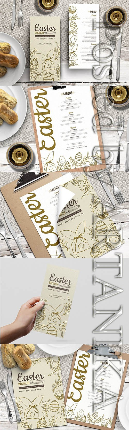 CreativeMarket - Easter Menu Templates Vol.3 2288457