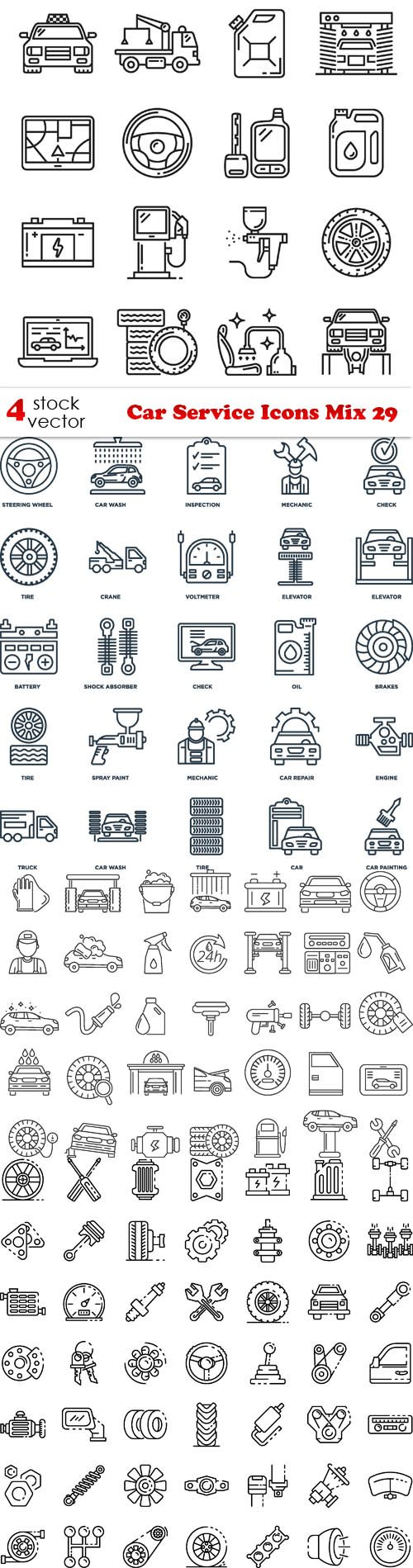 Vectors - Car Service Icons Mix 29